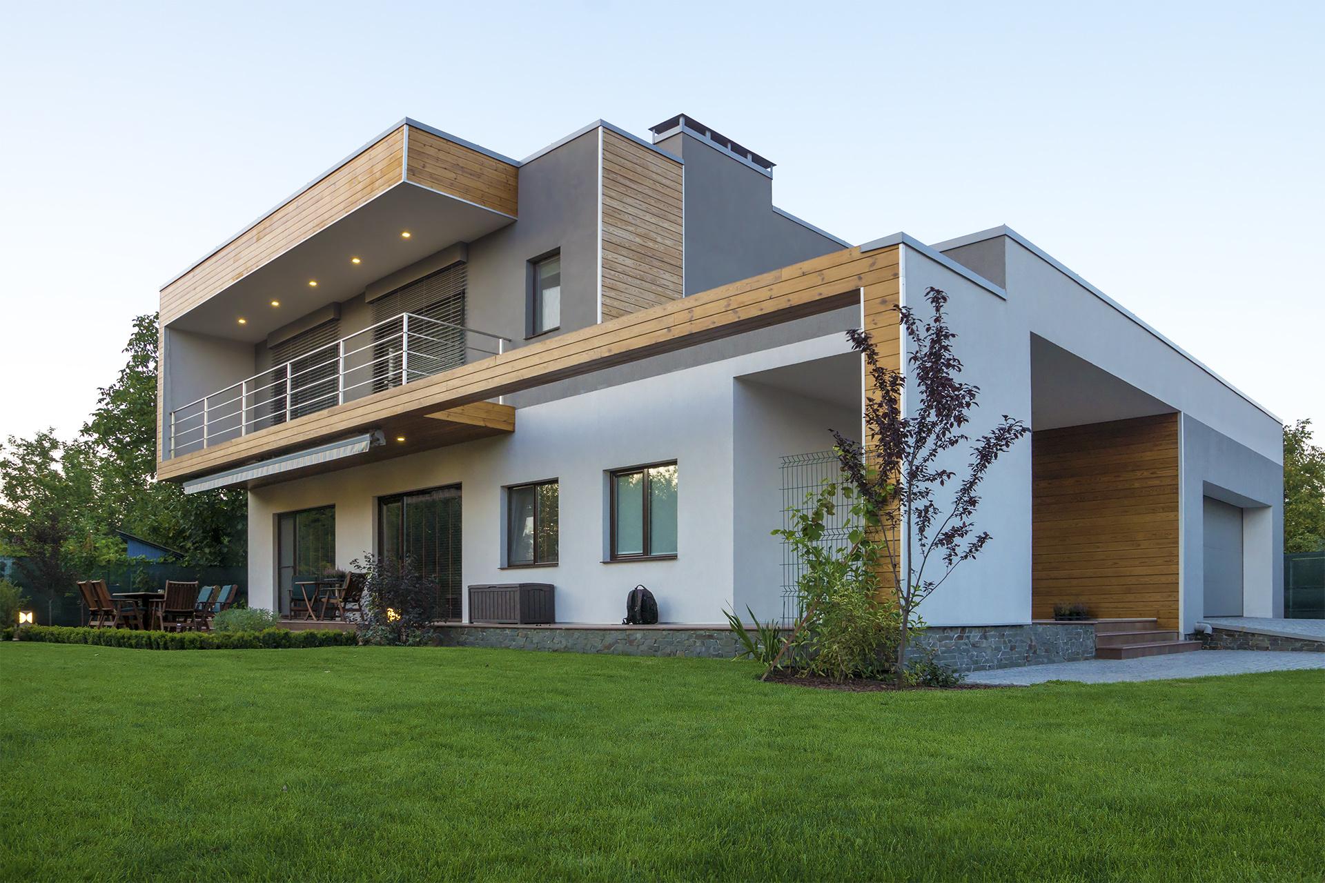 Строительство современного коттеджа